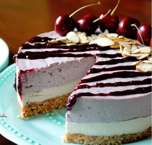 Cherry Almond Dairy-Free Cheesecake